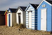 Colourful beach huts at South Beach