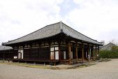 Main Hall Gokurakubo Of Gangoji Temple, Nara, Japan.
