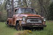 old ruty abandoned pickup truck