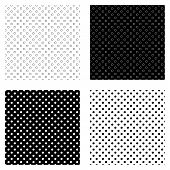 Abstract Polka Dot Pattern Set With Hand Drawn Dots. Cute Vector Black And White Polka Dot Pattern S poster