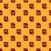 Red Png File Document. Download Png Button Icon Isolated Seamless Pattern On Brown Background. Png F poster