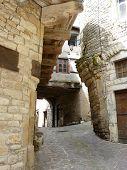 Medieval Village Streets In France poster