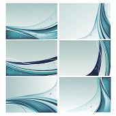 Blue backgrounds vector set