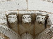 image of poitiers  - Close up of gargoyles on the exterior or the cathedral in Poitier France - JPG