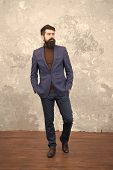 Be Your Own Label. Confident Businessman. Business Manager. Bearded Man In Formal Suit. Bearded Man  poster