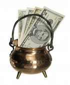 Cauldron And Banknotes
