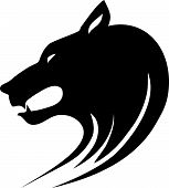 picture of wolf-dog  - Tribal vector illustration of wolf  head