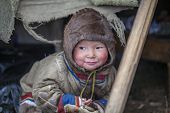 Tundra, The Extreme North, Yamal, The Pasture Of Nenets People, Children On Vacation Playing Near Re poster