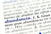 Spanish word for abundence