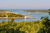 View Of The Bullock And Rigby Islands And A Man-made Entrance Into The Gippsland Lakes From The Lake poster