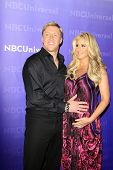 PASADENA - APR 18:  Kim Zolciak, Kroy Bermann arrives at the NBCUniversal Summer Press Day at The La