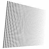 3D Segmented, Dashed Lines Geometric Pattern. Vanish, Diminish Strips In Perspective. Irregular Stri poster