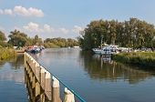 Small Port In The Dutch National Park De Biesbosch