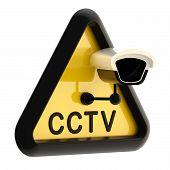 Closed circuit television CCTV alert sign