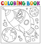 Coloring Book Space Theme 2 - Eps10 Vector Picture Illustration. poster