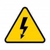 Electrical Hazard Sign. High Voltage Danger Symbol. Vector Illustration poster
