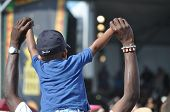 Young Music Lover at Jazz fest New Orleans 2012
