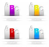Papieretiketten Stil mit 3 Auswahlmöglichkeiten. ideal für Web-Nutzung, Broschüre für Produktvergleich oder infograph