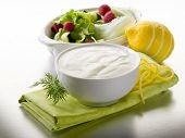 white yogurt dressing for salad, healthy food