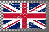 British National Flag Isolated Vector Illustration. Travel Map Design Graphic Element. World County  poster