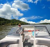 Boating Along The Ohio River In Kentucky