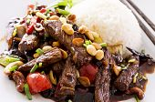kung pao beef with rice