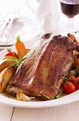 picture of barbary duck  - roasted goose roast fillet - JPG