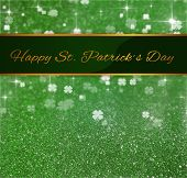St. Patrick�s Day Greeting Glitter Clover