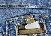Usb Flash In Jeans Pocked