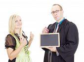 A Professor Teaches A Student