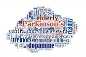Parkinson�¢�?�?s  Disease in word collage