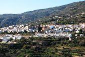 White town, Lanjaron, Las Alpujarras, Spain.