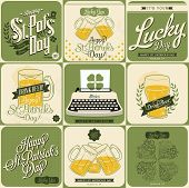 St Patrick's day card set