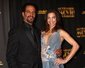 LOS ANGELES - FEB 15:  Kristoff St. John, Dana Derrick arrive at the 2013 MovieGuide Awards at the U