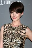 LOS ANGELES - FEB 19:  Anne Hathaway arrives at the 15th Annual Costume Designers Guild Awards at th