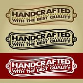 Handcrafted Retro Banner / Label