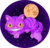 Magia Cheshire Cat levitando no ar