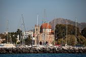 SARONIC GULF, GREECE - SEPTEMBER 25: Competitors boats during of sailing regatta
