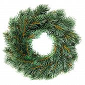 Green Round Christmas Wreath