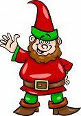 Gnome Or Dwarf Cartoon Illustration