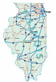 Illinois State Road Map