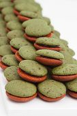 Pile Of Mint Marron Cookies