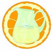 Orangeade With Slice.