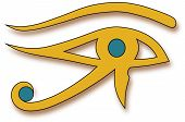 foto of horus  - Eye of Horus is considered a magic tool used by the ancient Egyptians - JPG
