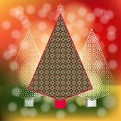 Peppermint Candy Christmas  trees diffused lighting
