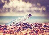 stock photo of sos  - Message in bottle - JPG