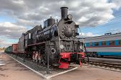 Samara, Russia - October 13: Old Steam Locomotive In Railway Museum On October 13, 2013 In Samara. F