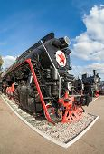 Russian Freight Locomotive 50-ies Of The Last Century