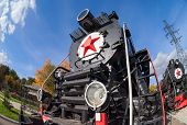 foto of locomotive  - SAMARA RUSSIA  - JPG