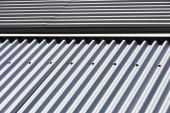 Detail Of A Metal Clad Building